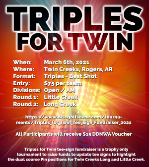 Triples for Twin - Tee Sign Fundraiser graphic