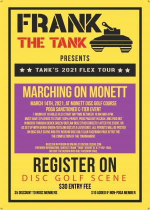 Marching on Monett Flex Start graphic