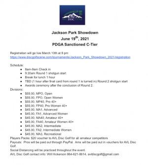 Jackson Park Showdown graphic