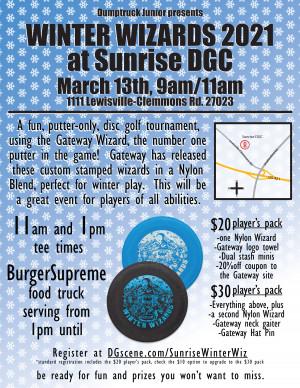 Winter Wizards at Sunrise DGC graphic