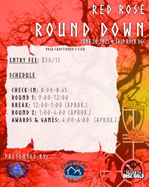 Red Rose Round Down - Ship Rock graphic