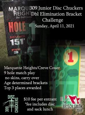 309 Junior Disc Chuckers Bracket Challenge graphic