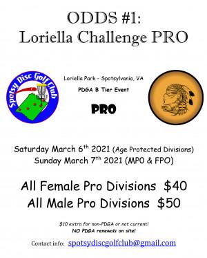ODDS #1 - Loriella Challenge PRO (MPO & FPO) graphic