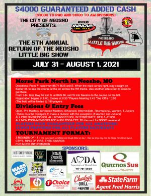 The City of Neosho Presents: The 5th Annual Return of the Little Big Show **$4000 ADDED CASH** graphic
