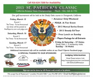 St. Patrick's Classic - California Amateur State Championships graphic