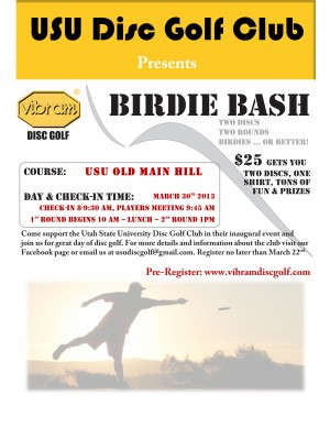 Vibram Birdie Bash at Old Main Hill graphic