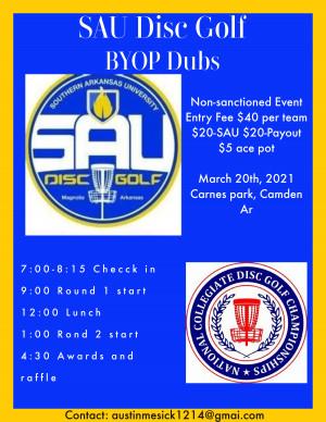 SAU Disc Golf Fundraiser graphic