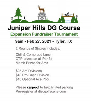 Juniper Hills Expansion Fundraiser Tournament graphic