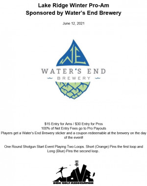 Lake Ridge Winter Pro-Am Sponsored by Water's End Brewery graphic