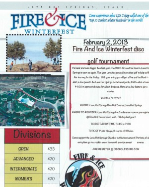 Fire And Ice Winterfest Disc Golf Tournament graphic