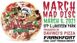 Davinci's Pizza presents March Mad Disc graphic