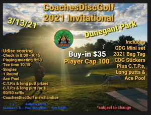 CoachesDiscGolf 2021 Invitational graphic