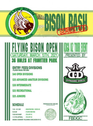 Flying Bison Open Presented by Dynamic Discs graphic