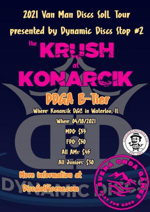 2021 Van Man Discs SoIL Tour #2 presented by Dynamic Discs - Krush at Konarcik graphic