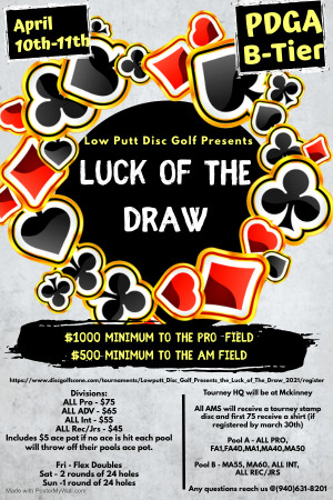 Lowputt Disc Golf Presents the Luck of The Draw graphic