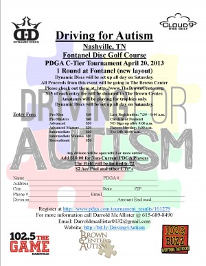 Driving for Autism graphic