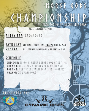 2021 Norse Gods Championship Sponsored by Dynamic Discs (Female, MA3, MA4) graphic