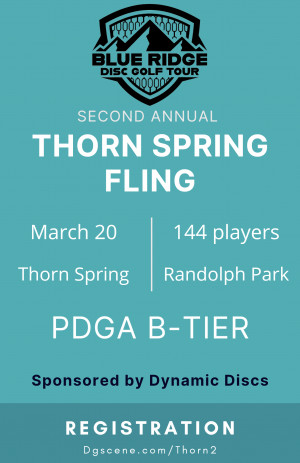 BRDGT - The Thorn Spring Fling Sponsored By Dynamic Discs graphic