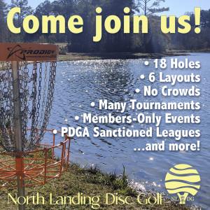 North Landing Disc Golf Membership 21/22 Season graphic