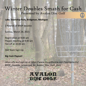 Winter Doubles Smash for Cash presented by Avalon Disc Golf graphic