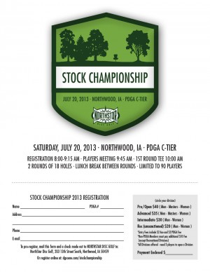 Stock Championship presented by NorthStar Disc Golf graphic