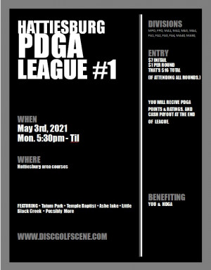 Hattiesburg PDGA League #1 graphic