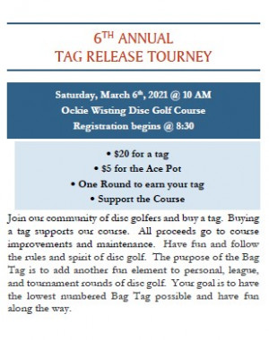 6th Annual Tag Release Tournament graphic