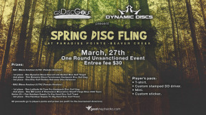 gsDisc Golf presents Spring Disc Fling at Paradise Pointe - Beaver Creek - sponsored by Dynamic Discs graphic