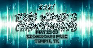 2021 Texas Women's Disc Golf Tournament graphic