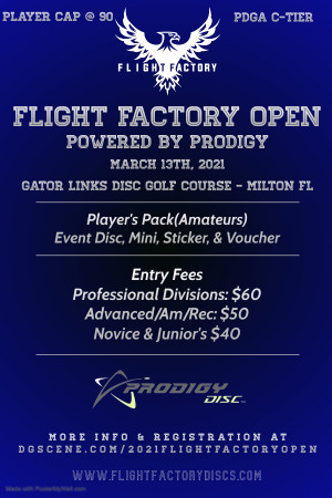 2021 Flight Factory Open Powered by Prodigy graphic