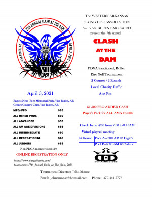 7th Annual Clash at the Dam graphic