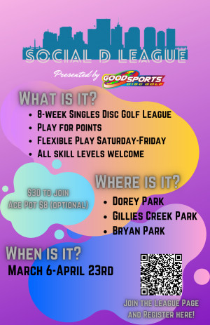 Social D Spring League Presented by Good Sports Disc Golf graphic