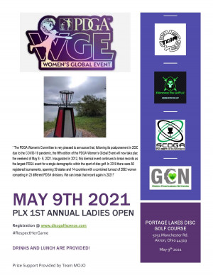 PLX 1st Annual Ladies Open (Womans Global Event) graphic