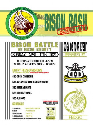 Bison Battle of Rush County by Dynamic Discs graphic