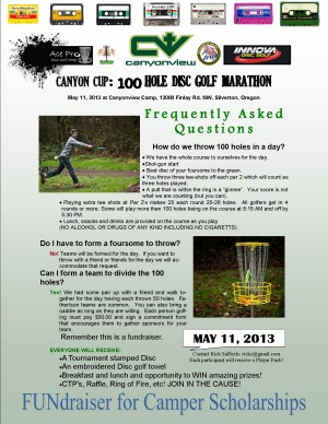 The Canyon Cup: 100 Hole-Marathon New Layout! (FUNdraiser) graphic