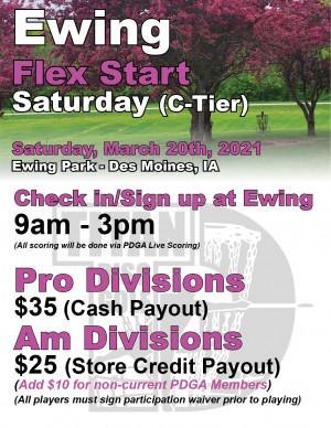 Ewing Flex Start Saturday graphic