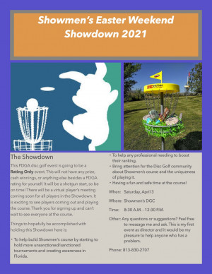Showmen's Easter Weekend Showdown graphic