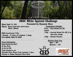 ODGC White Squirrel Challenge - Presented by Dynamic Discs graphic