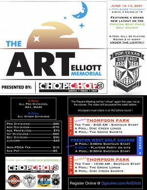 The Art Elliott Memorial presented by Chop Chop Rice Co. graphic
