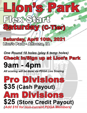 Lion's Park Flex Start Saturday graphic