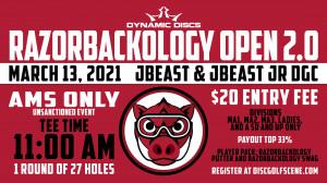 Dynamic Discs NWA and Razorbackology Presents: Razorbackology Open 2.0 graphic