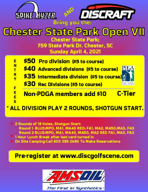 Discraft Presents: Spike Hyzer's: Chester Park Open VII, Sunday Edition graphic