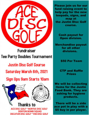 ACE Disc Golf Tee Party Fundraiser Doubles graphic