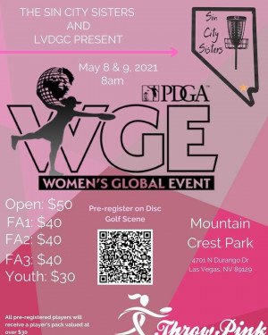 WGE - Sin City Sisters Women's Global Event 2021 graphic