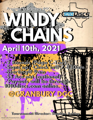 Windy Chains Presented by 1010discs TexasTeam graphic