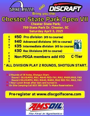 Discraft Presents: Spike Hyzer's: Chester Park Open VII, Saturday Edition graphic