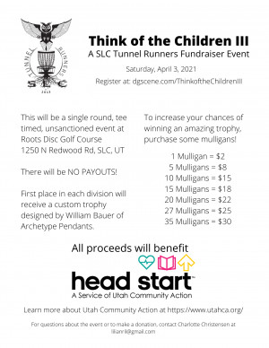 Think of the Children III! A SLC Tunnel Runners Fundraiser Event graphic