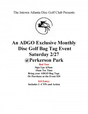 Atlanta Disc Golf Organization Perkerson Monthly Tag Tournament graphic