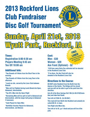 Rockford Lions Club Fundraiser graphic