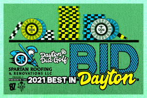 Dayton Disc Golf BID #3 - Sponsored by Spartan Roofing & Renovations LLC - Presented by Dynamic Discs graphic